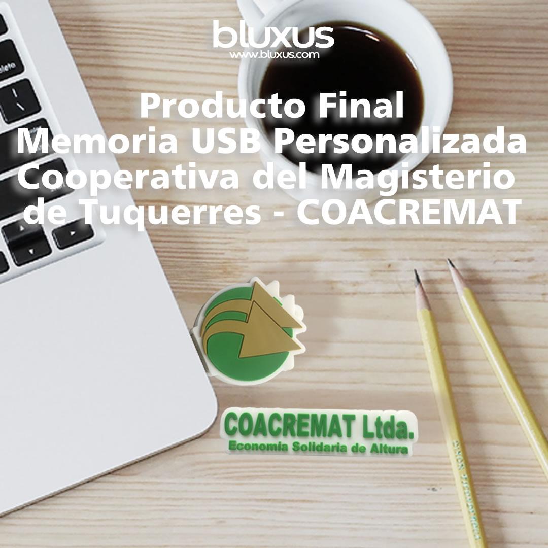 Memorias USB Personalizada Coacremat Cooperativa del Magisterio de Tuquerres