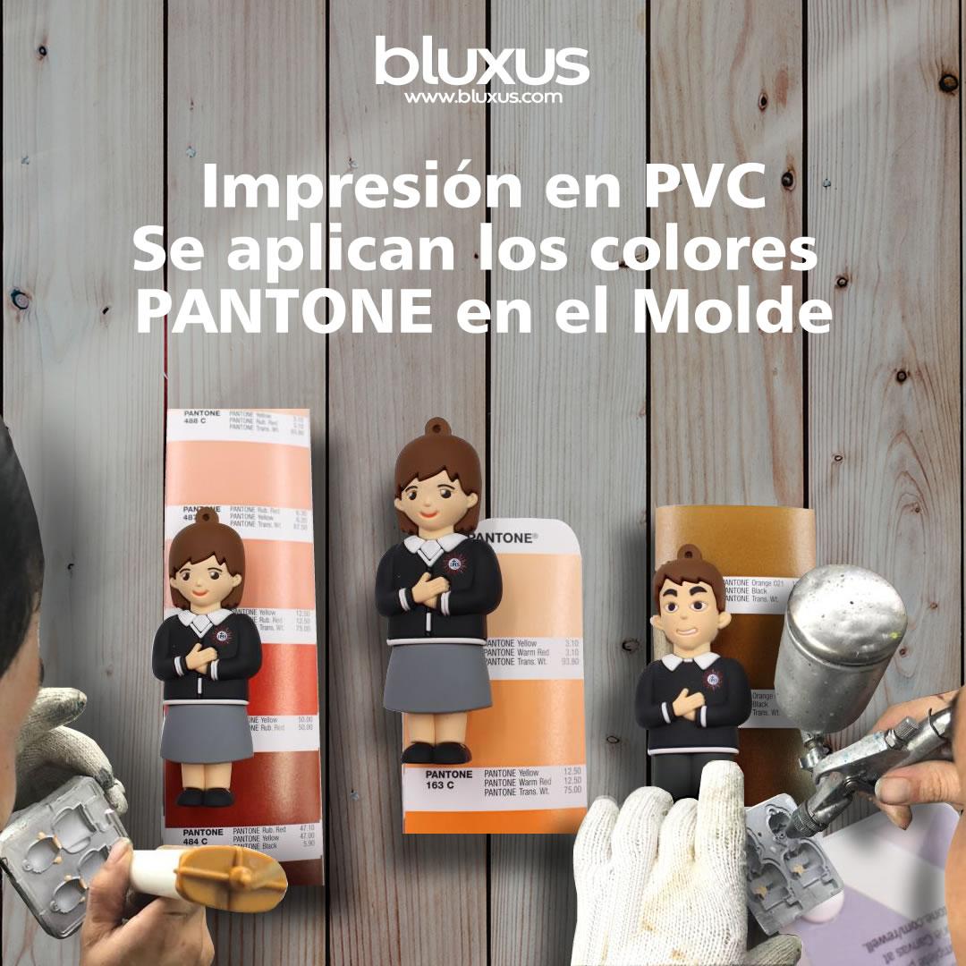 Bluxus Custom USB Memory impresion en PVC fabricacion de memorias usb personalizadas