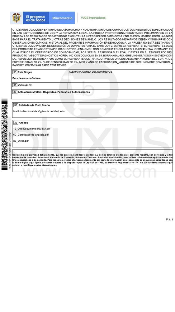 Panbio Abbott Covid 19 AG | Prueba Rápida de Antígeno en Colombia 7