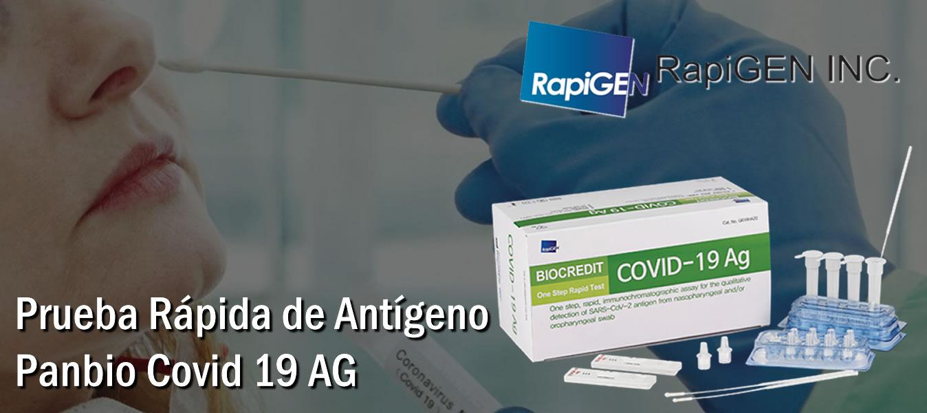 Prueba de detección de Antígenopara Covid 19 Rapigen Biocredit Covid-19 AG