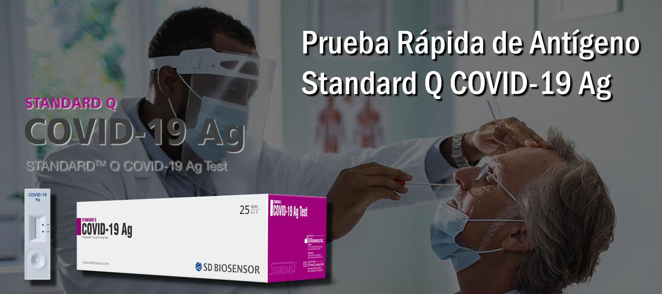 Prueba de detección de Antígenopara Covid 19 Standard Q de Annar