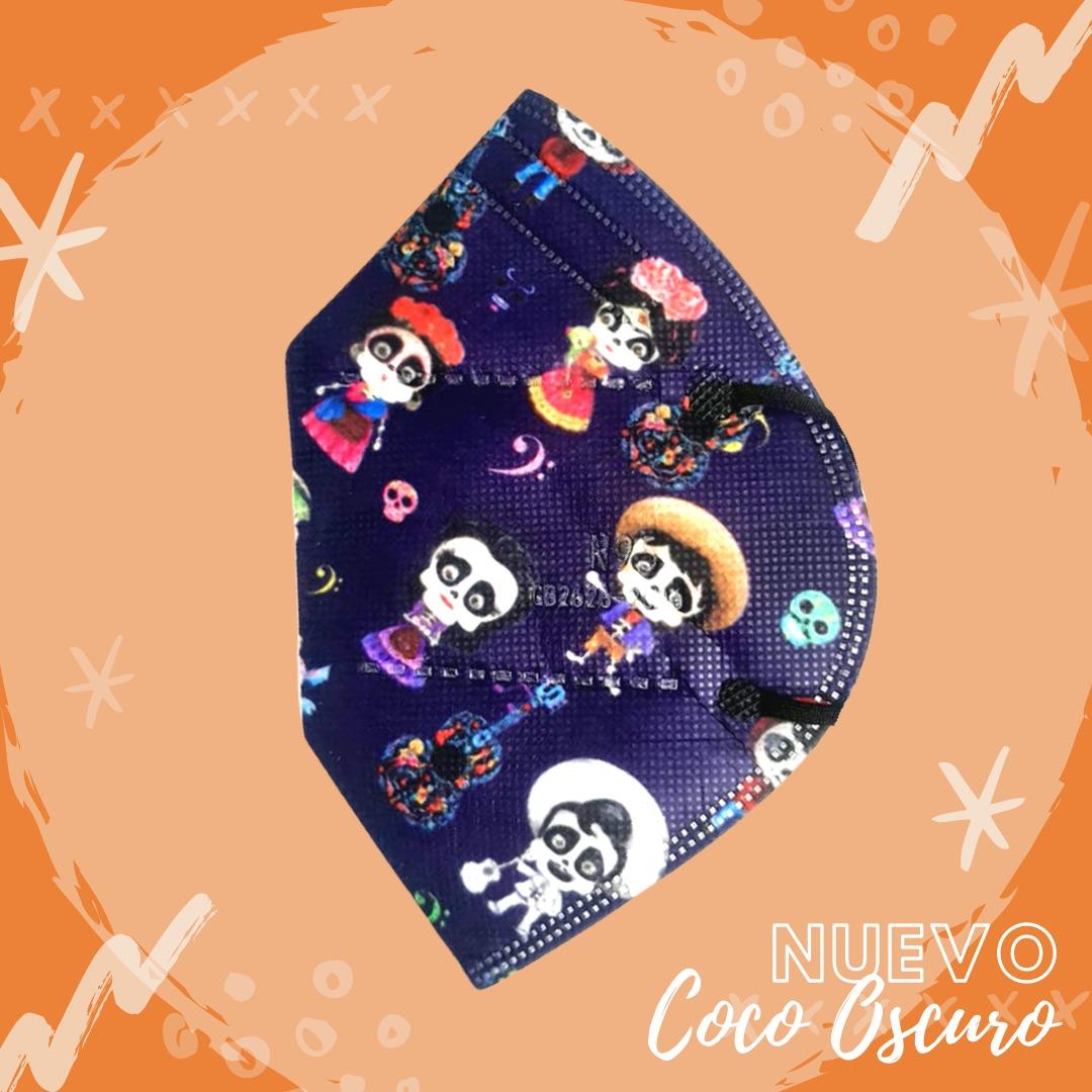 Tapabocas Coco Disney Oscuro