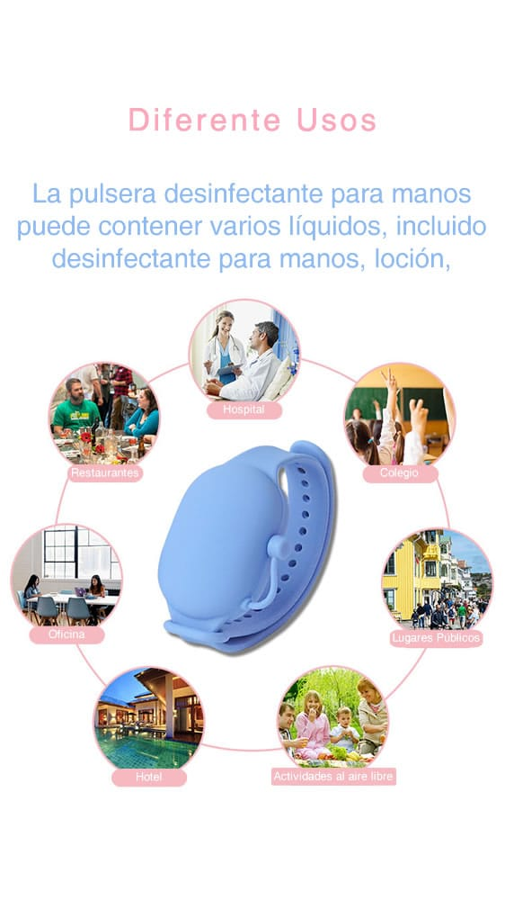 Diferentes usos pulsera de bioseguridad