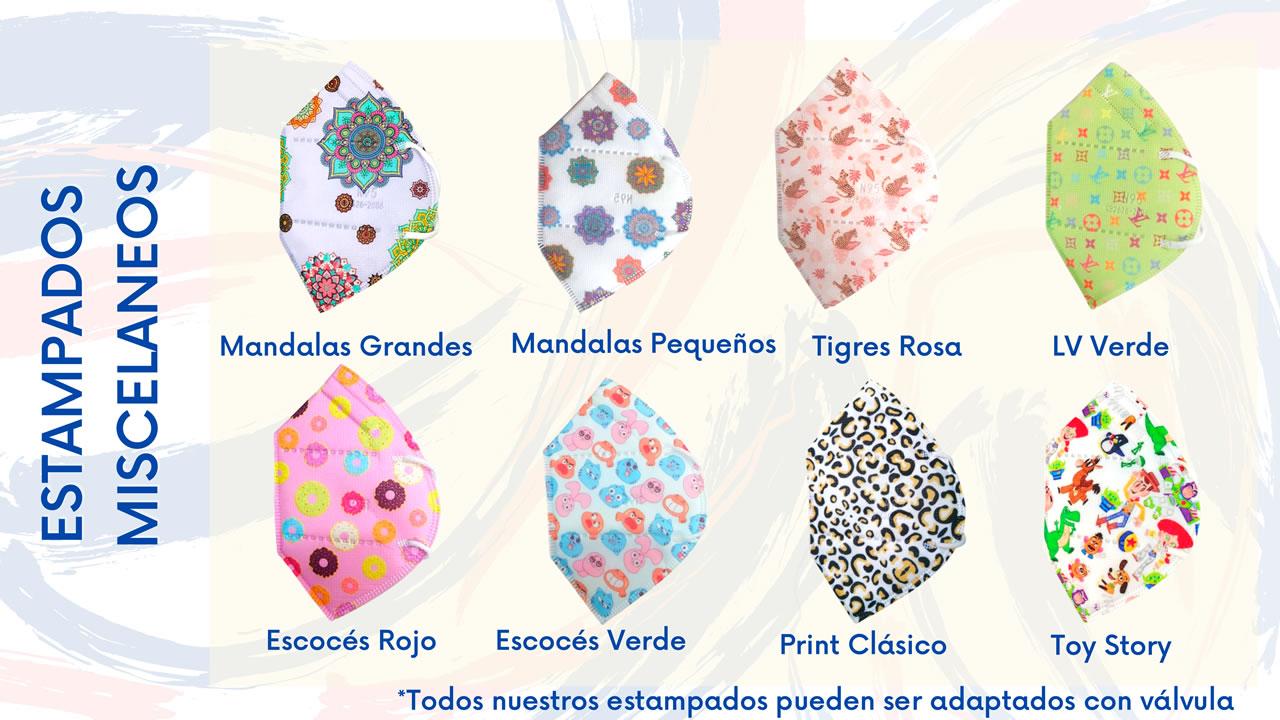 Tapabocas para Niños en Colombia - 5 Capas - N95 - KN95 - de Colores y Estampados 1