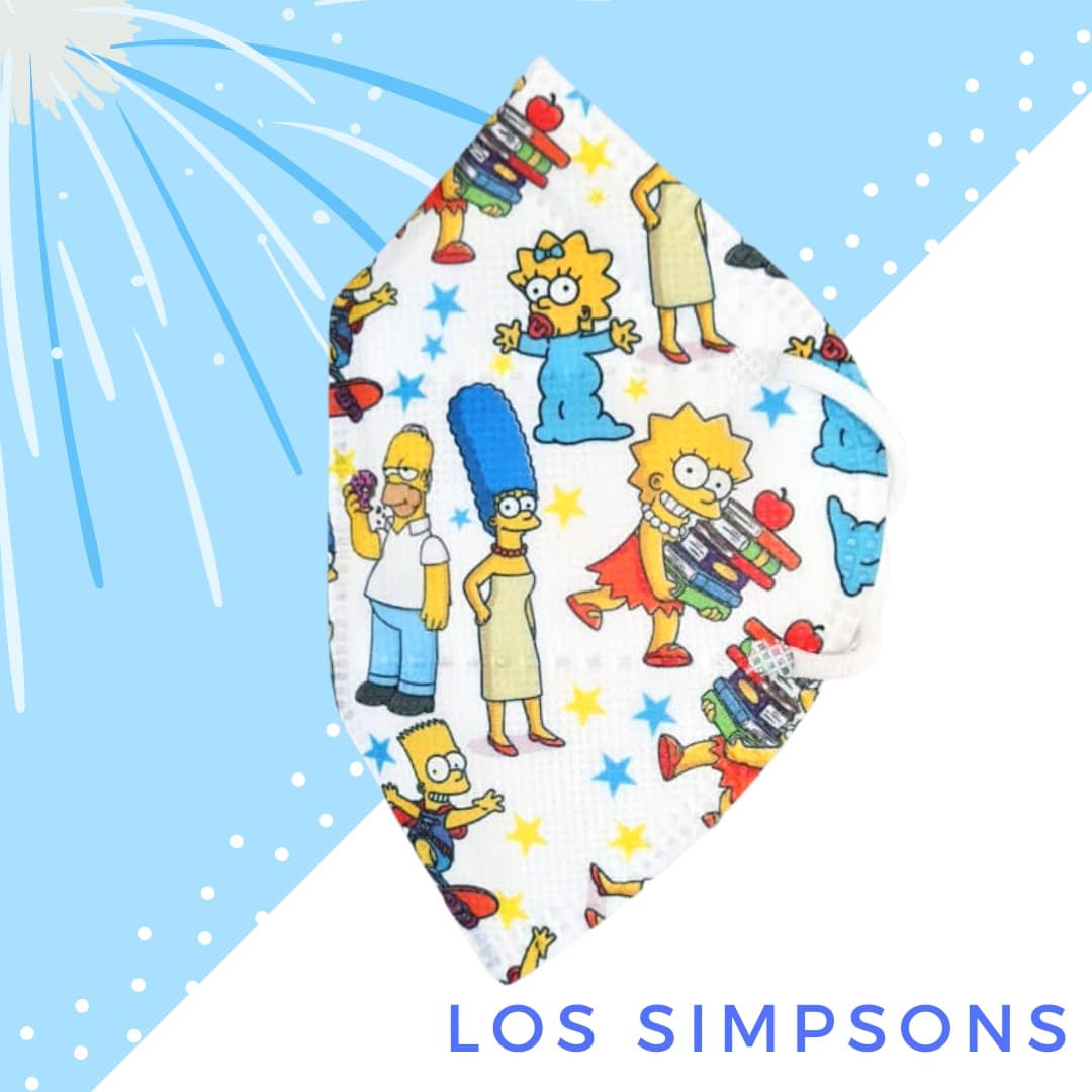 Tapabocas Los Simpsons