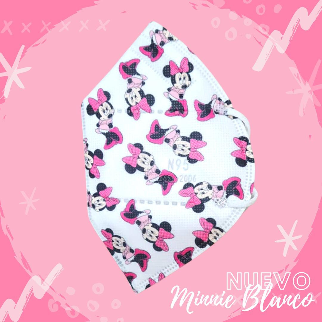 Tapabocas Minnie Mouse Blanco