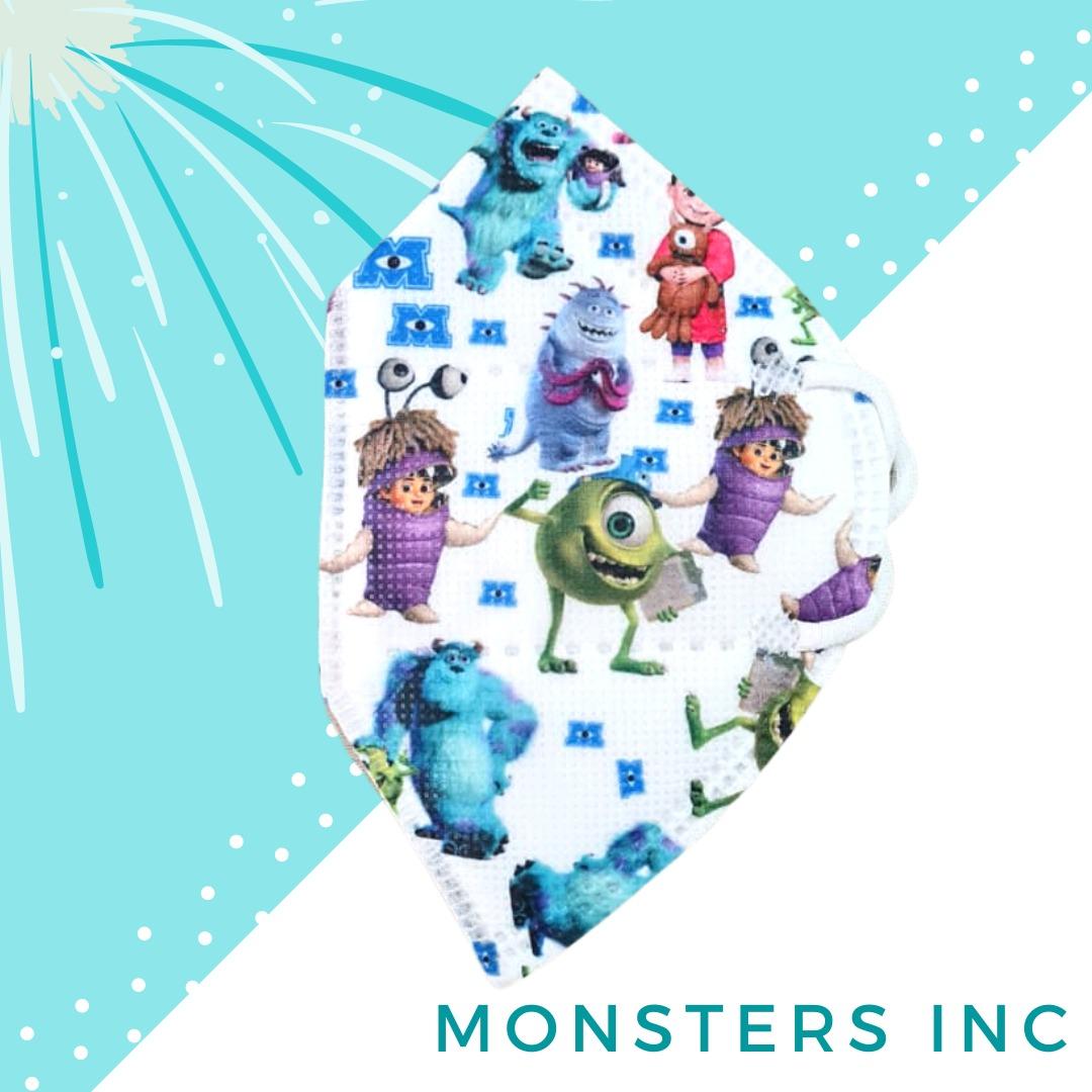 Tapabocas Monster INC