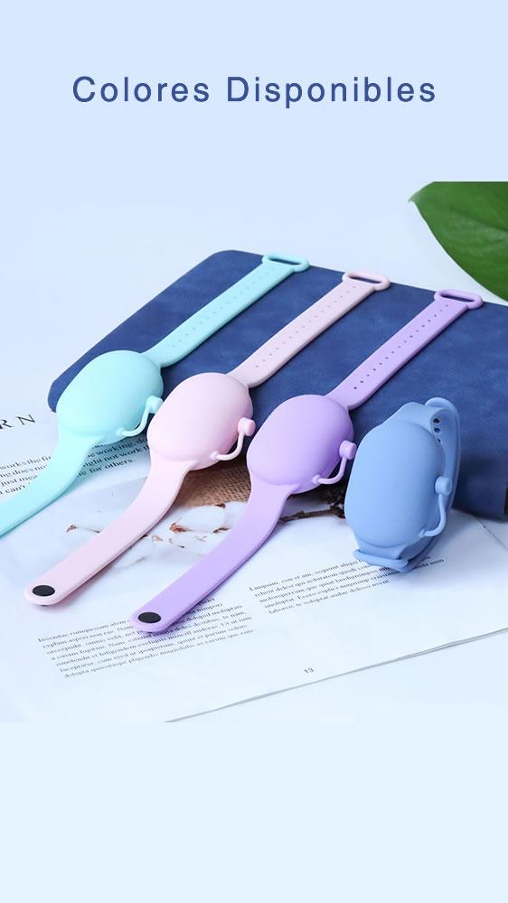 diseños disponibles de brazaletes dispensadores de gel