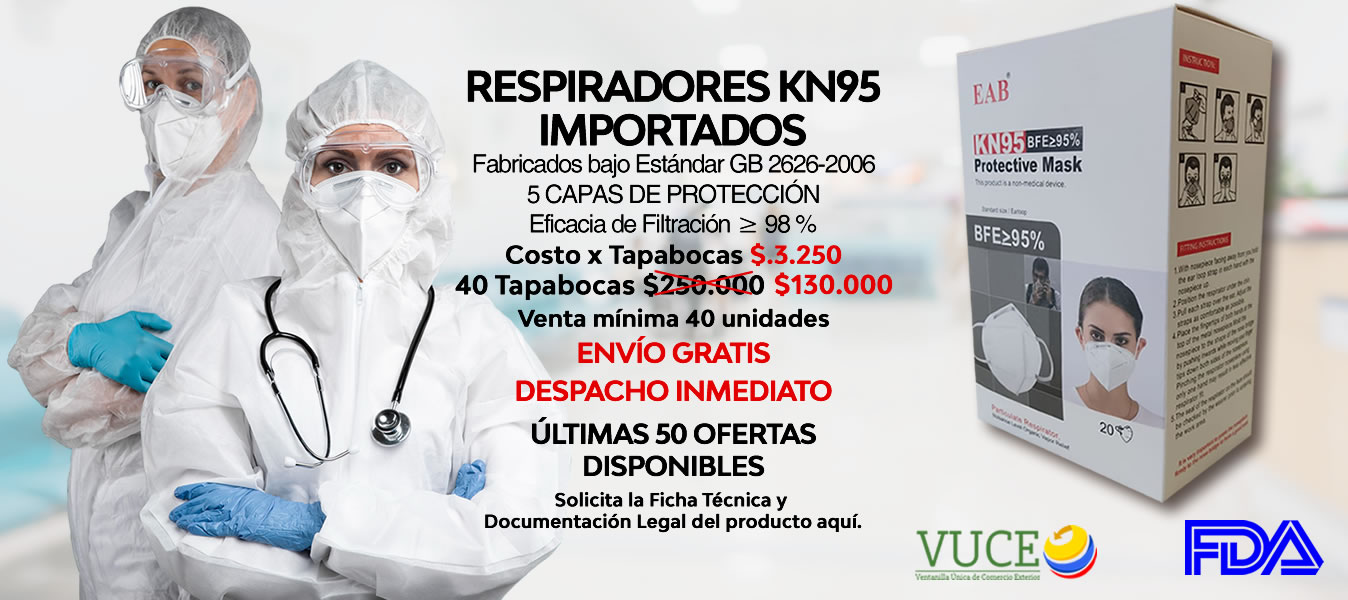 Oferta 2021 Tapabocas KN95 Importado Sector Salud Colombia