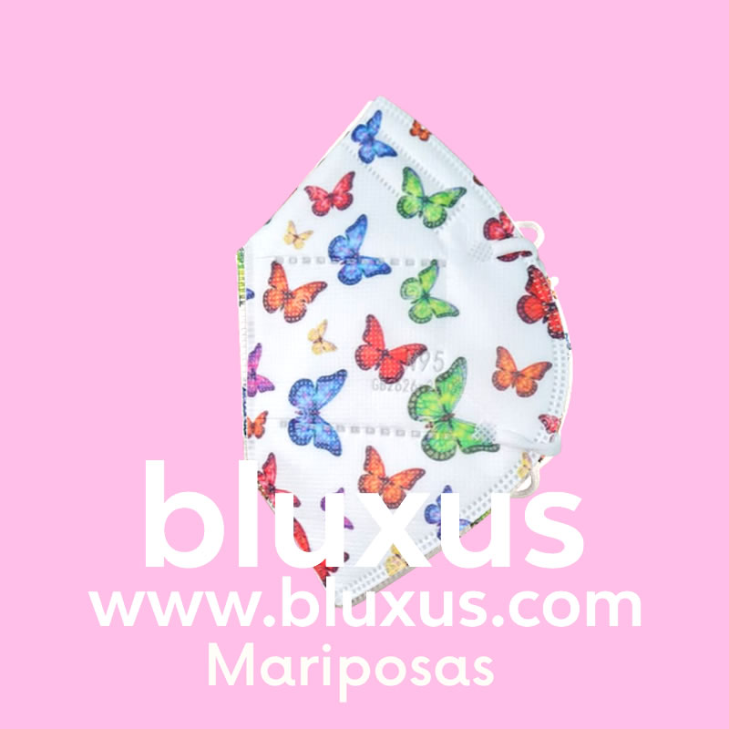 Tapabocas Figuras Mariposas