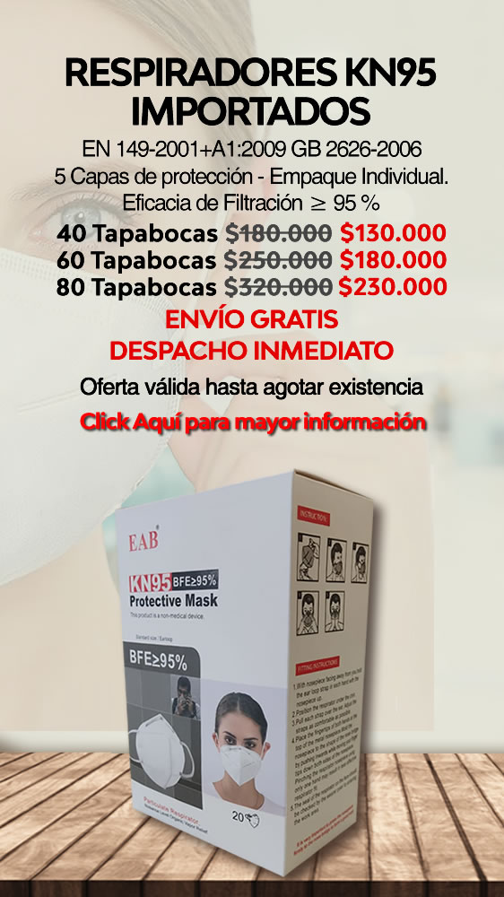 Tapabocas KN95 IMPORTADOS JUNIO 2021