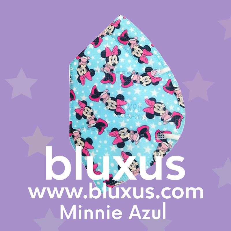 Tapabocas de Minnie Azul