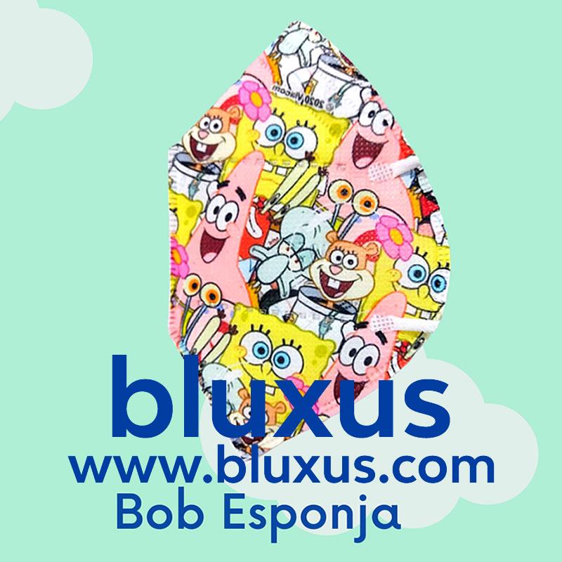 Tapabocas para Niños de Bob Esponja