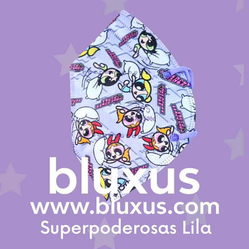 Tapabocas para Niños de Chicas Superpoderosas Lila