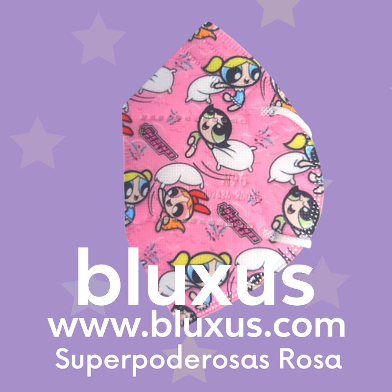 Tapabocas para Niños de Chicas Superpoderosas Rosa