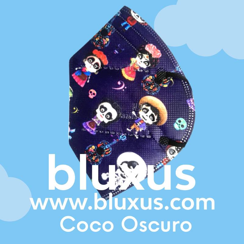 Tapabocas para Niños de Coco Oscuro