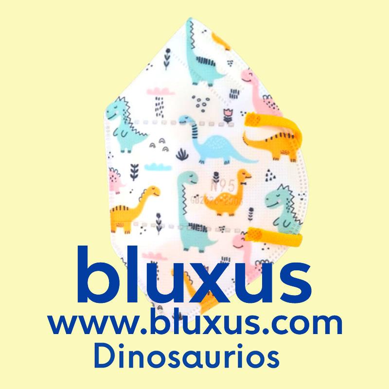 Tapabocas para Niños de Dinosaurios