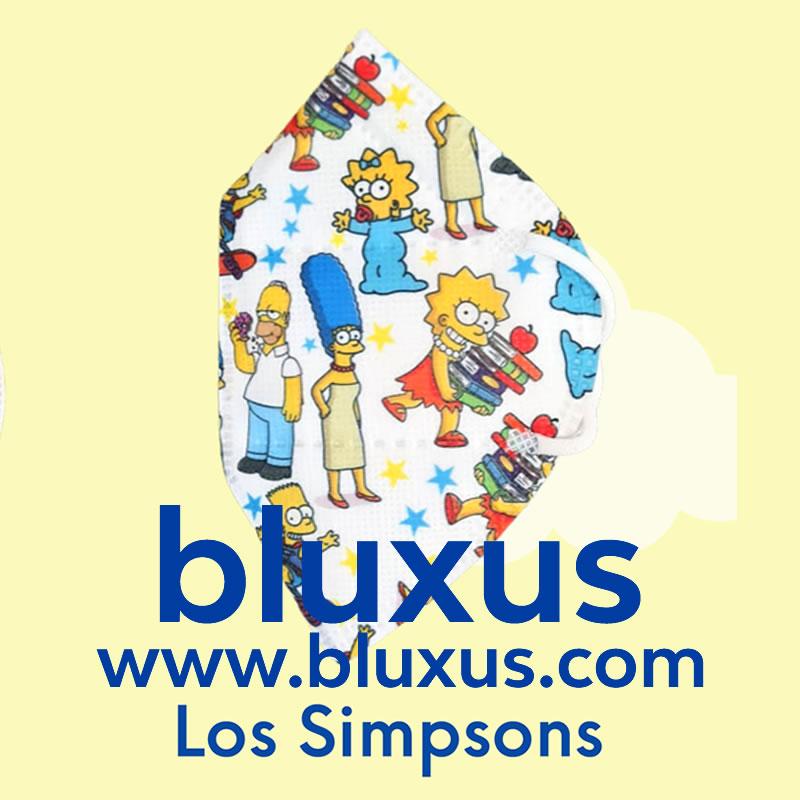 Tapabocas para Niños de Los Simpson