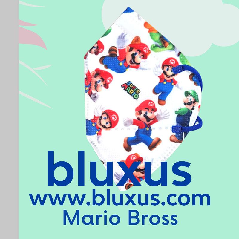 Tapabocas para Niños de Mario Bross