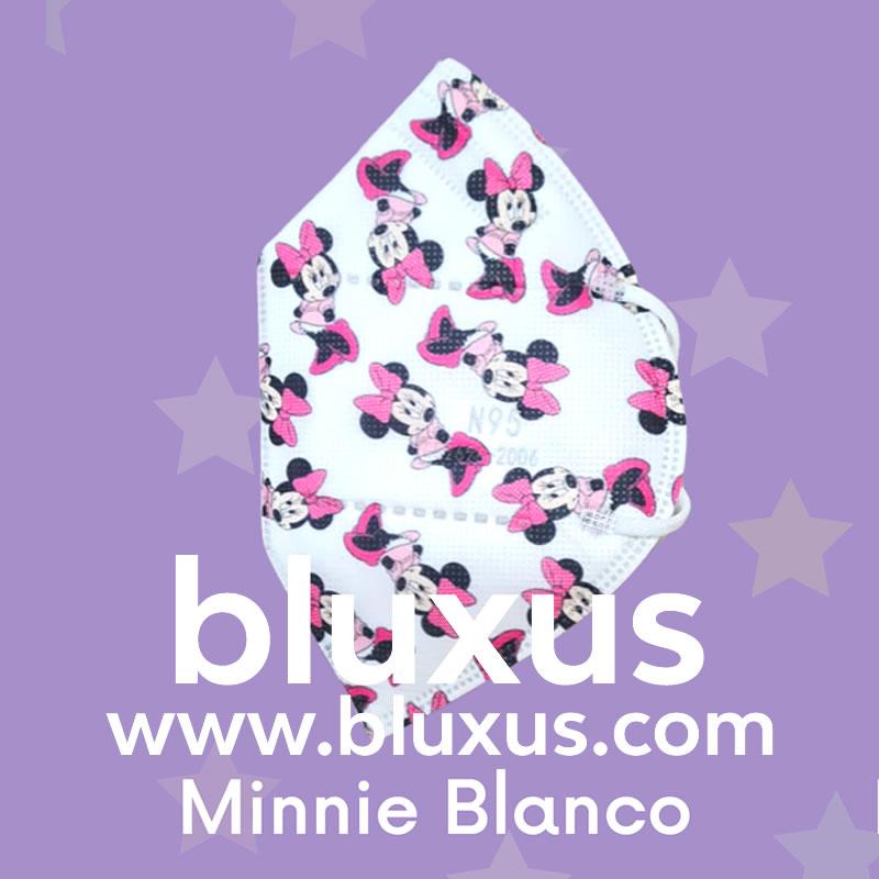 Tapabocas para Niños de Minnie Blanco