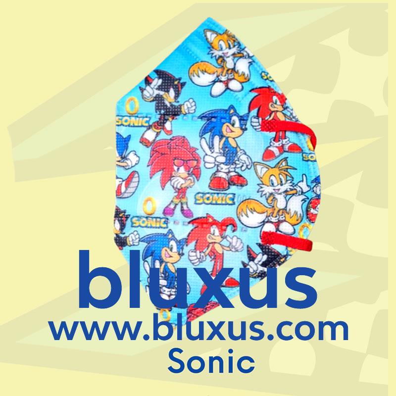 Tapabocas para Niños de Sonic