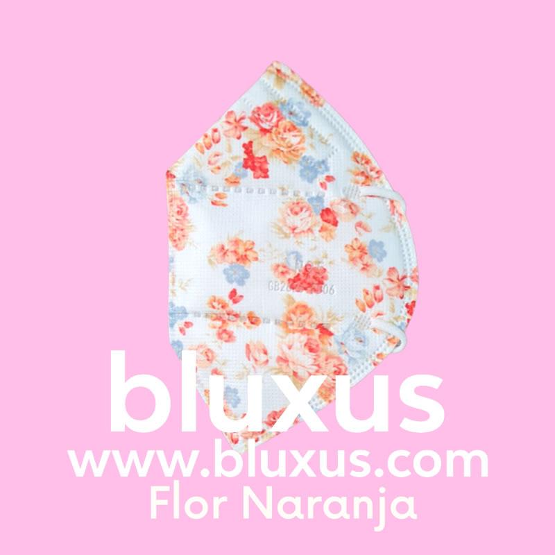 Tapabocas para mujer Flor Naranja