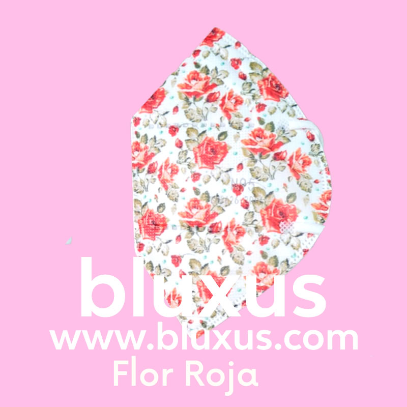 Tapabocas para mujer Flor Roja