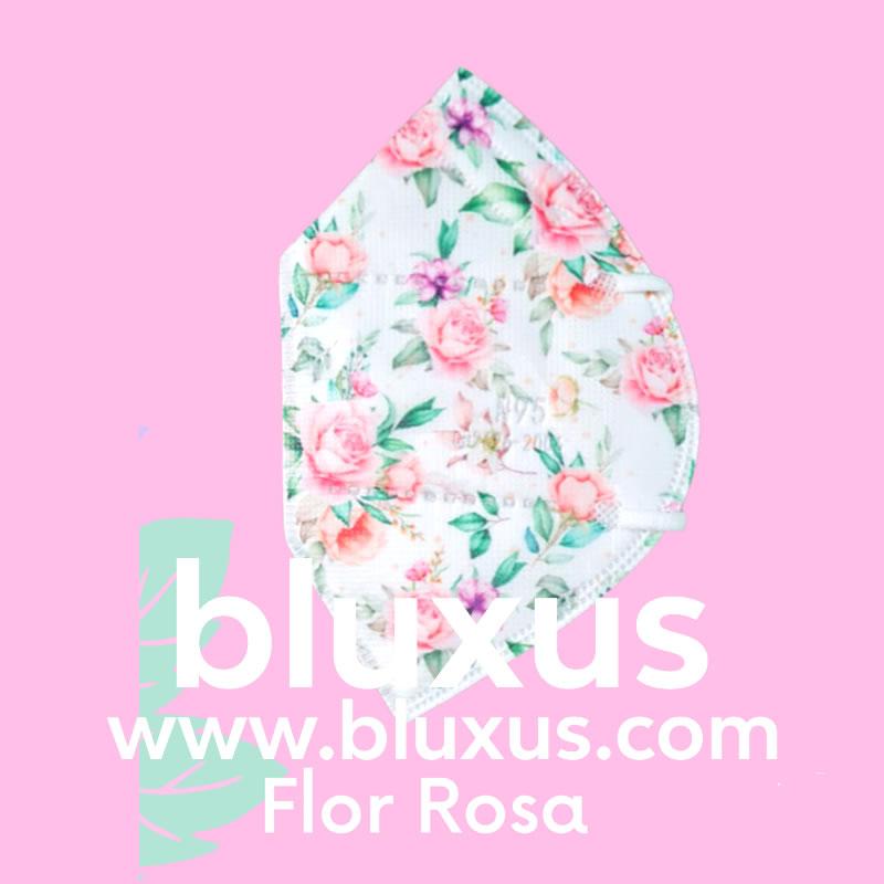 Tapabocas para mujer Flores Rosas