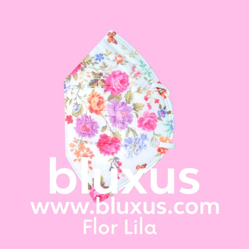 Tapabocas para niñas Flor Lila