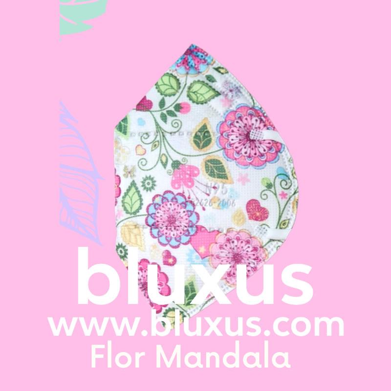 Tapabocas para niñas Flor Mandala